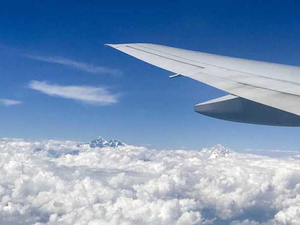 Mount Everest from a Plane
